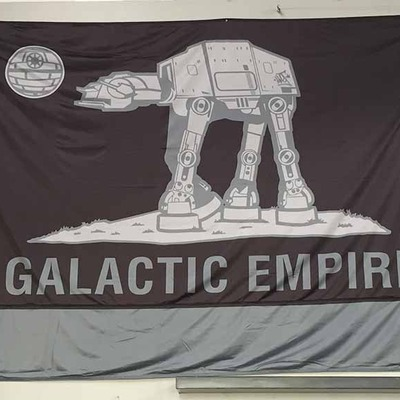 9ft' x 6ft'  galactic empire flag (deathstar colorway)