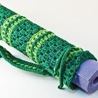 Custom Open Crochet Yoga Mat Bag - Thumbnail 4