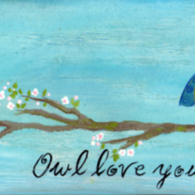 "6"" x 12"" ""owl love you forever"" (non-personalized sign) wall decor"
