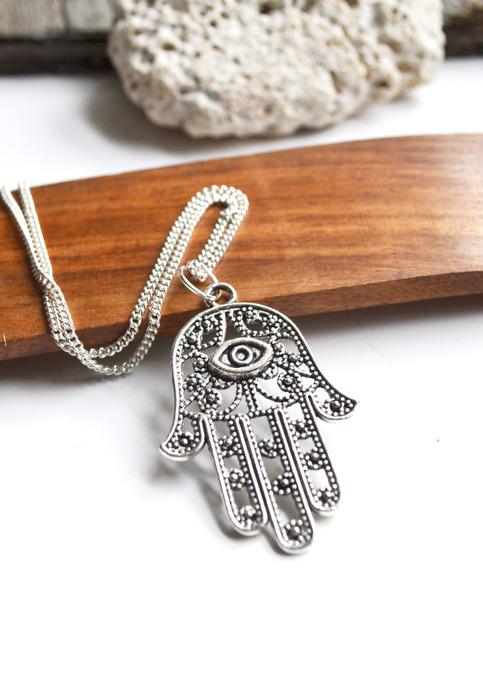 Hamsa Hand Necklace, Evil Eye Protection Necklace, Hamsa ...