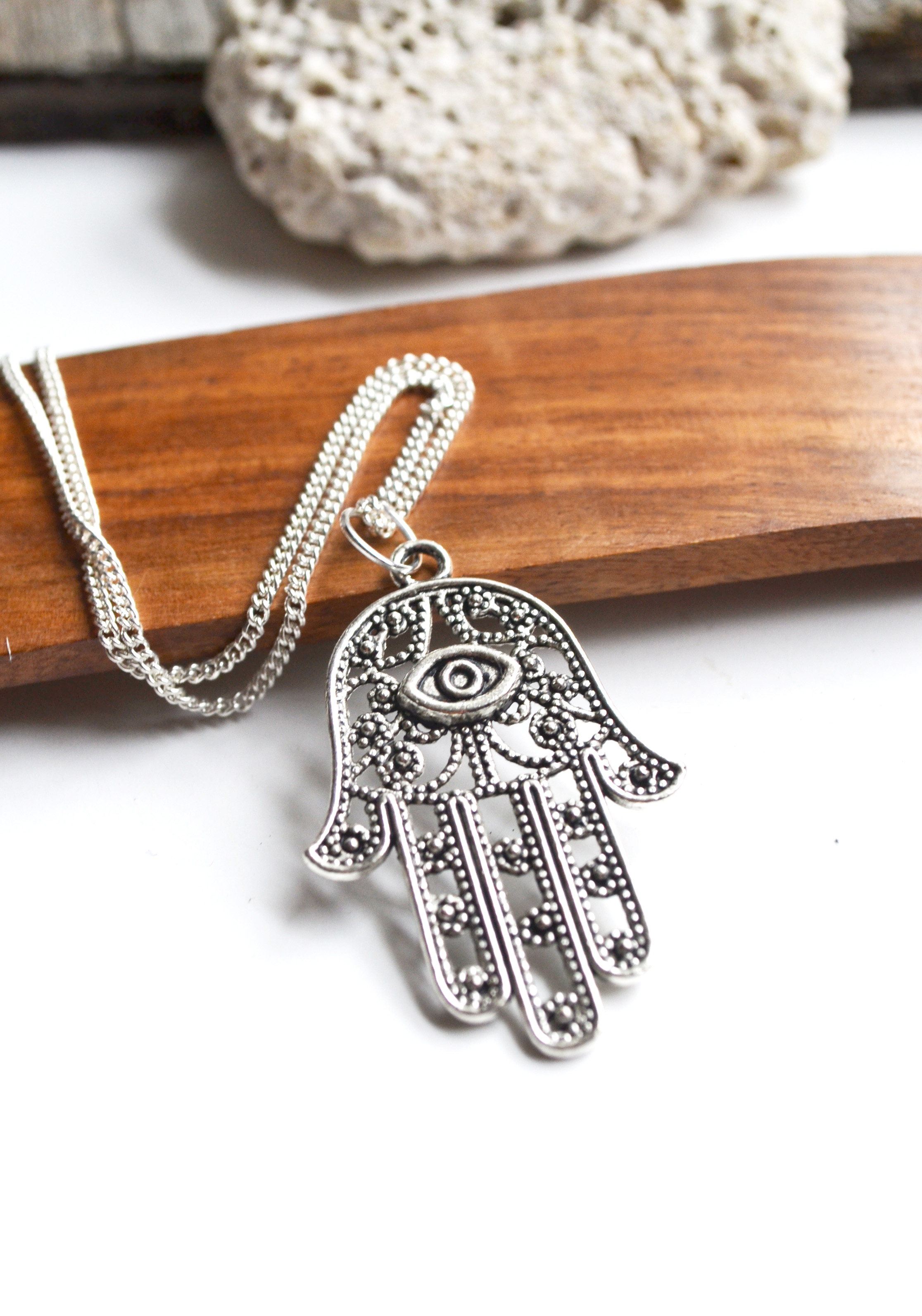 Hamsa hand necklace evil eye protection necklace hamsa jewelry hamsa hand necklace evil eye protection necklace hamsa jewelry evil eye jewelry aloadofball Image collections