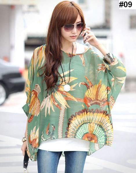 2016 summer big size dolman sleeve chiffon leisure blouse on storenvy. Black Bedroom Furniture Sets. Home Design Ideas