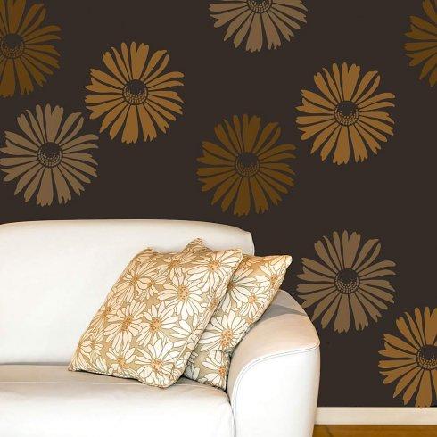 Happy Daisy Wall Art Stencil - SMALL - DIY Wall Decor - Better Than ...