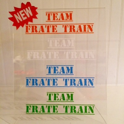 Team frate train car sticker