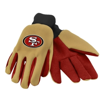 49ers colored palm utility gloves