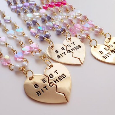 """best bitches"" necklaces"