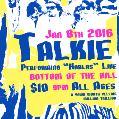 Talkie show poster - 1/08/2016