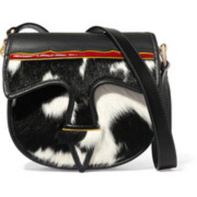 Tory burch cow-print calf hair shoulder bag