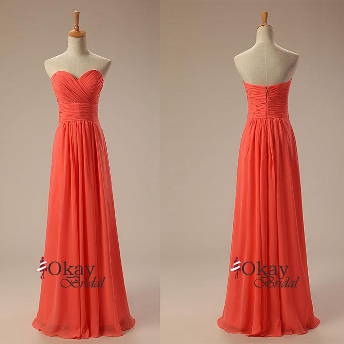 Burnt Orange Prom DressChiffon DressPretty DressLong Dress