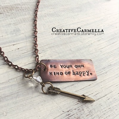 Be your own kind of happy. {necklace}