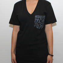 Zebra Dark V-Neck