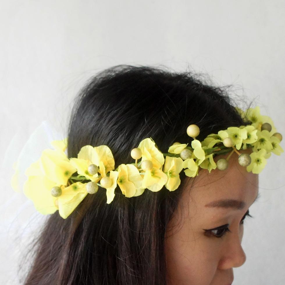 Yellow Flower Crown Native American Style Crown Gypsy Flower Crown