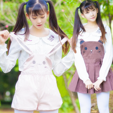 Japanese kawaii rabbit straps shorts skirt · Fashion Kawaii  Japan ... beda78418330