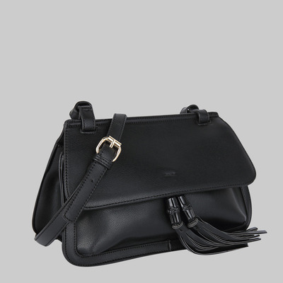 Estelle front tassel cross body (black) by melie bianco