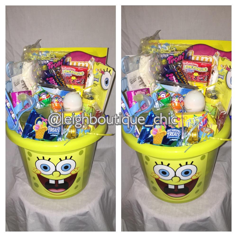 Spongebob squarepants kids easter basket easter 2016 filled spongebob squarepants kids easter basket easter 2016 filled baskets cartoon easter baskets negle Gallery
