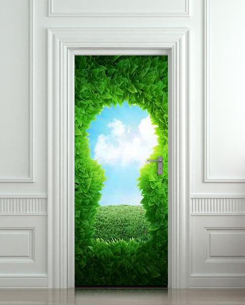Wall Door Sticker Forest Green Keyhole Wanderland Self