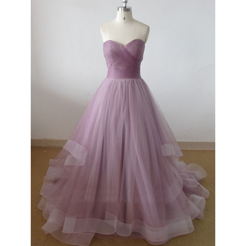 Tulle prom dresses a line prom dress simple prom dress for Prom dresses that look like wedding dresses