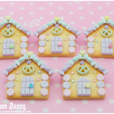 Candy house brooch