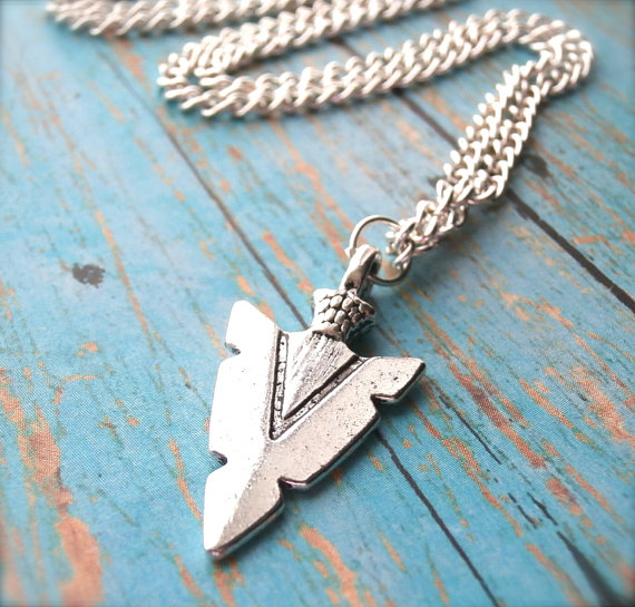 listing silver il sideways arrow necklace pendant sterling
