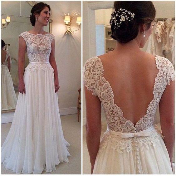 shedress Aline ruching floor length Vback lace wedding dresscheap