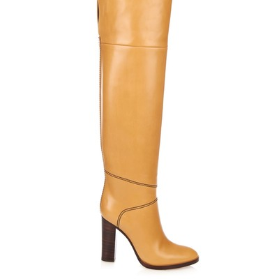 ChloÉ graze over-the-knee leather boots