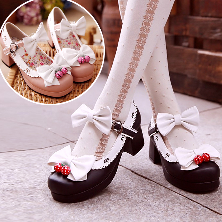 japanese kawaii bowknot shoes 183 asian kawaii