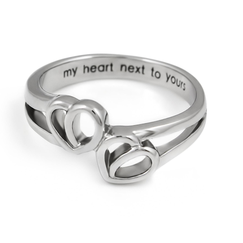 Tzaro Jewelry Promise Ring Double Hearts My Heart Next