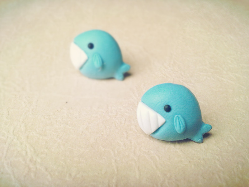 Noirlu Whale Polymer Clay Diy Earrings Online Store