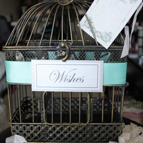 Something Tiffany Blue - Vintage Inspired Shabby Chic Style Wedding Card Holder