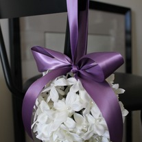 Bridal Stephanotis Pomander Kissing Ball for Weddings and Flower Girl