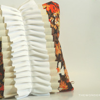 Maple Ave - Ruffled Throw Pillow Cover 16x16 Vintage Fabrics