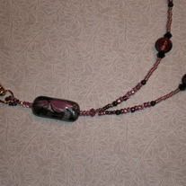 Beaded Lanyard Purple/Black