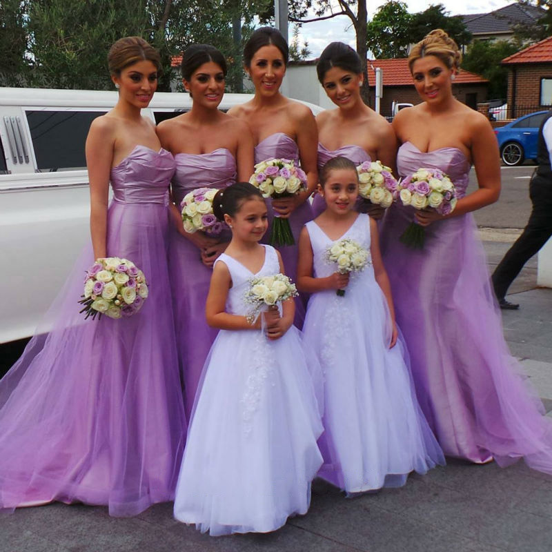 Sweetheart Bridesmaid Dress with Empire Waist, Beautiful Lavender ...