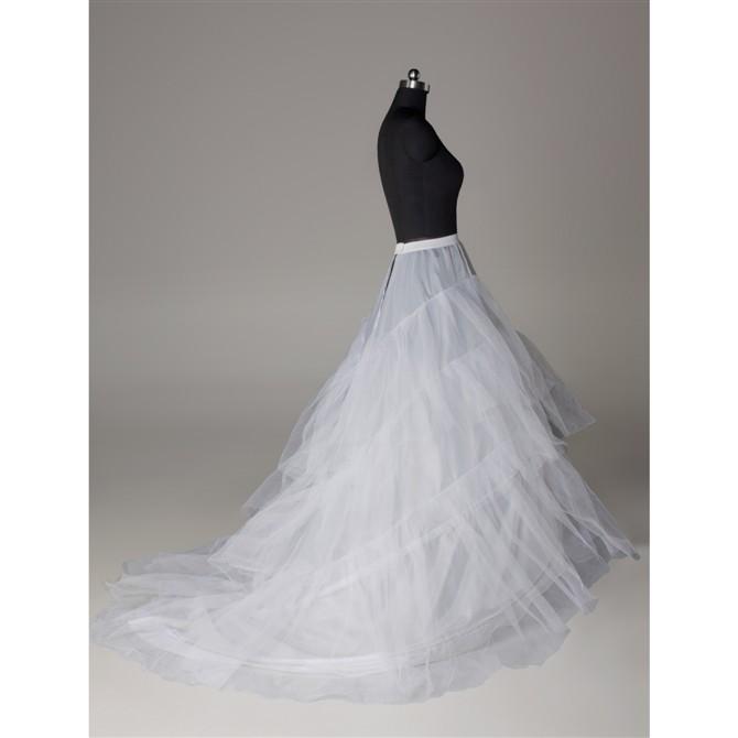 Wedding Dress Crinoline Bridal Petticoat Underskirt 2 Hoops with ...