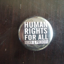 """Human Rights For All"" Button"