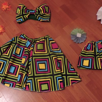 Mommy and me skirt set