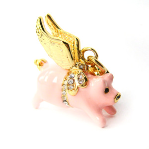 Limited Edition Jewelry - If Pigs Could Fly Flying Pig Animal Necklace