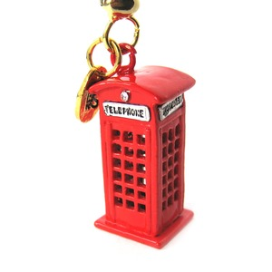 Limited Edition Jewelry - Iconic Red Telephone Box Pendant Necklace
