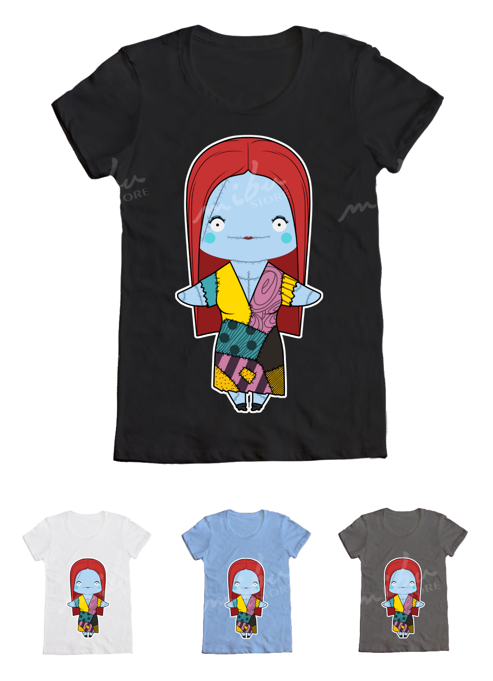 MibuStore · Custom T-Shirts | The Nightmare Before Christmas - Sally ...