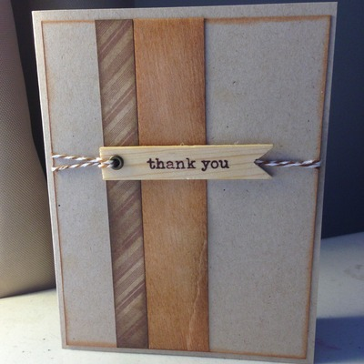 Wooden thank you
