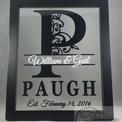 Personalized Last Name Floating Frame 8x10, Wedding Gift ...
