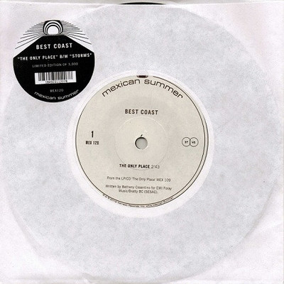 Best coast ‎• the only place 7""