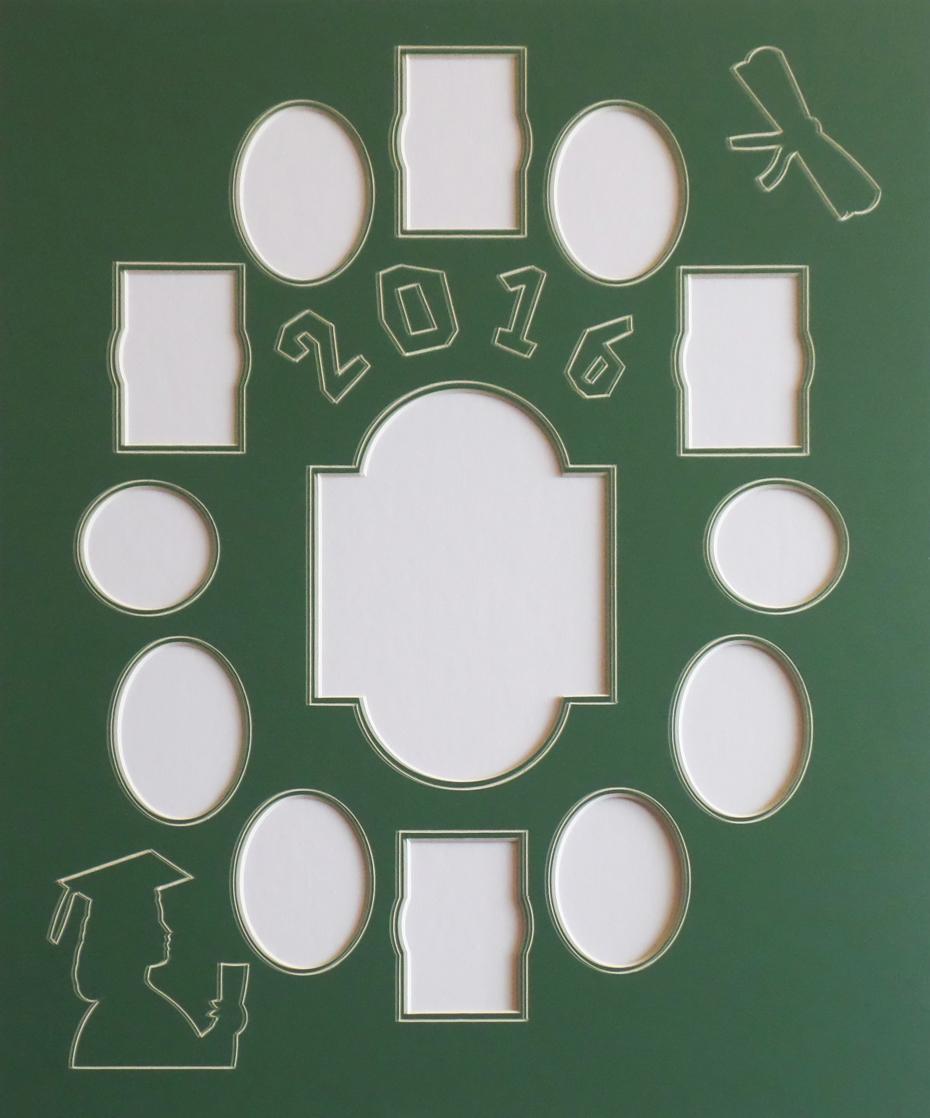 customizable single school days graduation photo mat collage frame
