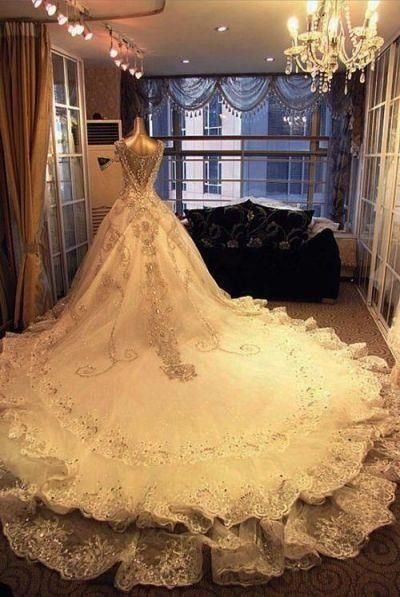 Wedding Dresses,Long Wedding Dressed,Lace Wedding Dresses,Rhinestone ...