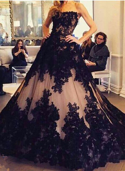 Wedding Dressesbridal Gownblack Wedding Dresslace Wedding Dress