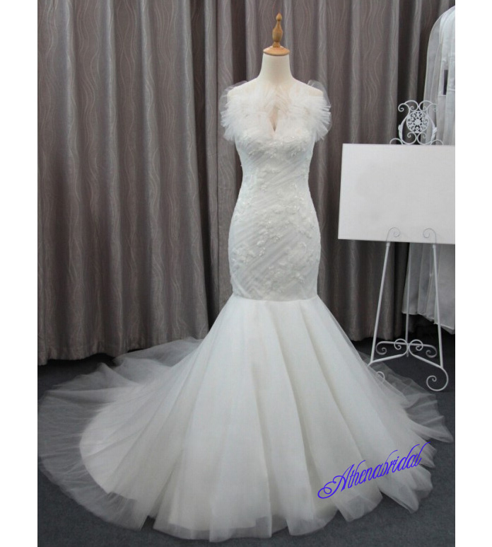 Mermaid wedding dress, affordable wedding dresses, sleeveless ...