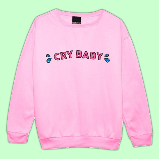 Cry Baby Sweater | Pink Unisex S- XL · Shop Alienz · Online Store ...