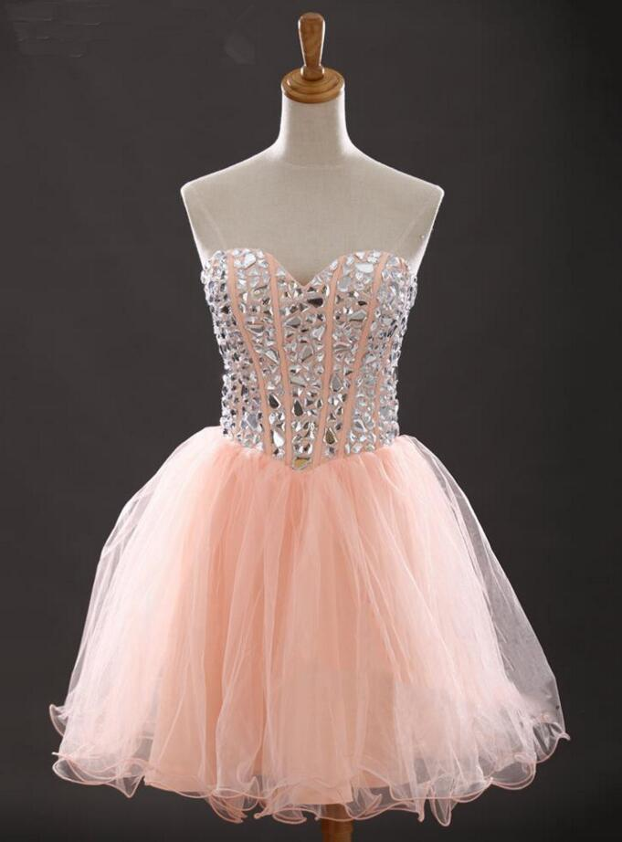 Solo Dress Blush Pink Homecoming Dress,Short Prom Dresses,Tulle ...