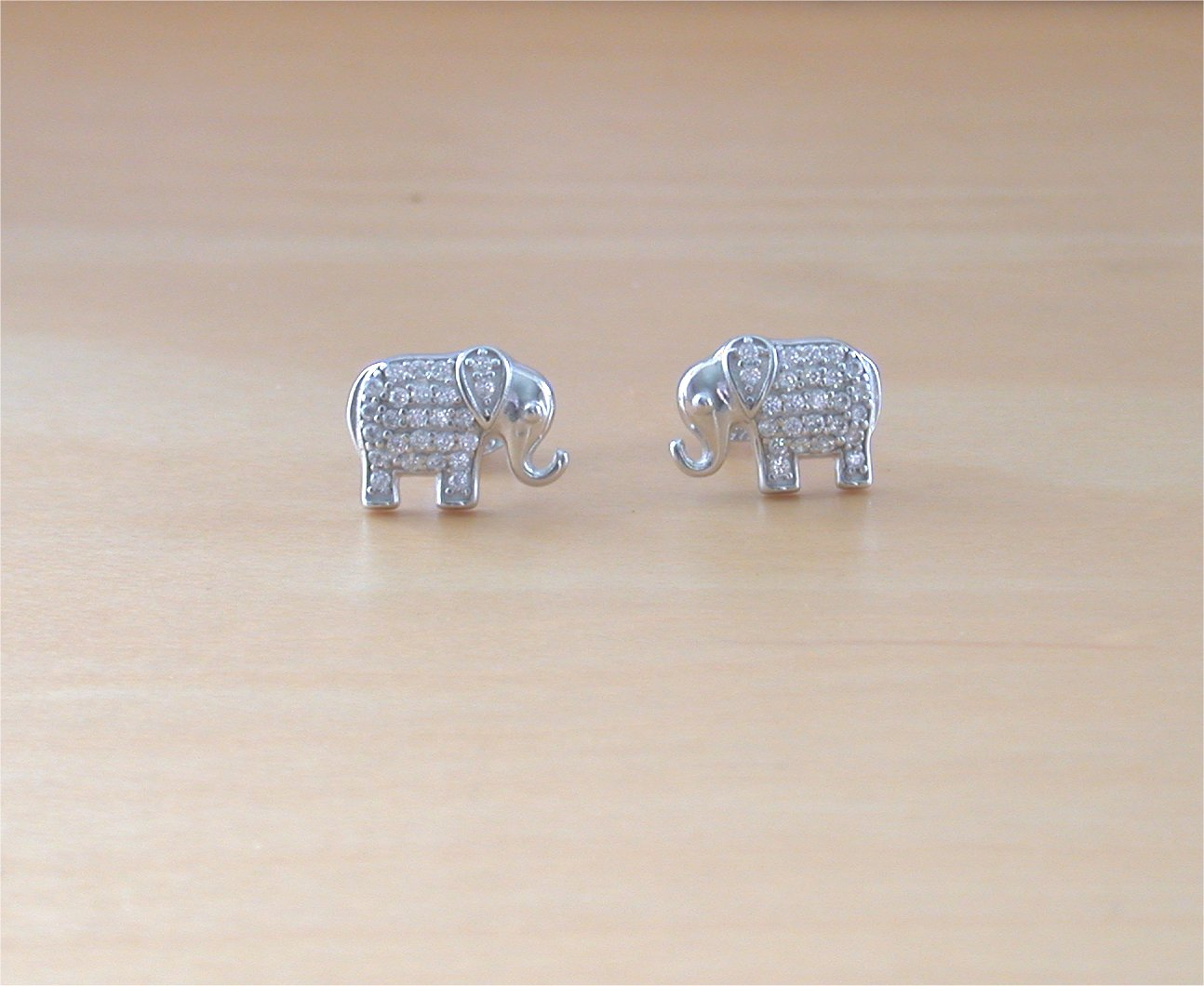 no accent jet shop earrings on beads silver with card faceted sterling crystal earwires elephant