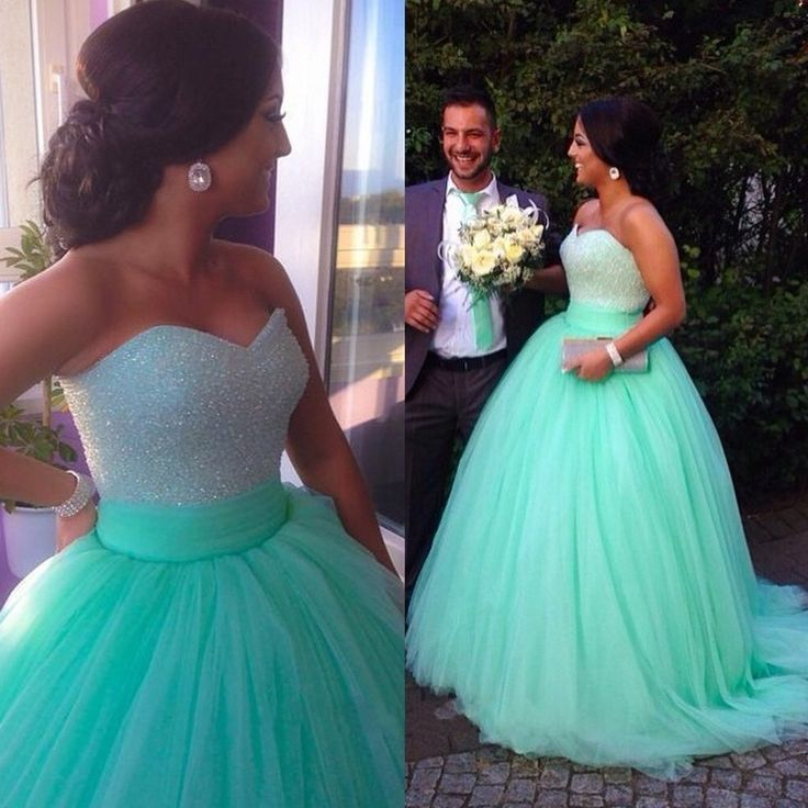New Arrival Sweetheart Ball Gown Long Tulle Quinceanera Dress/Prom ...